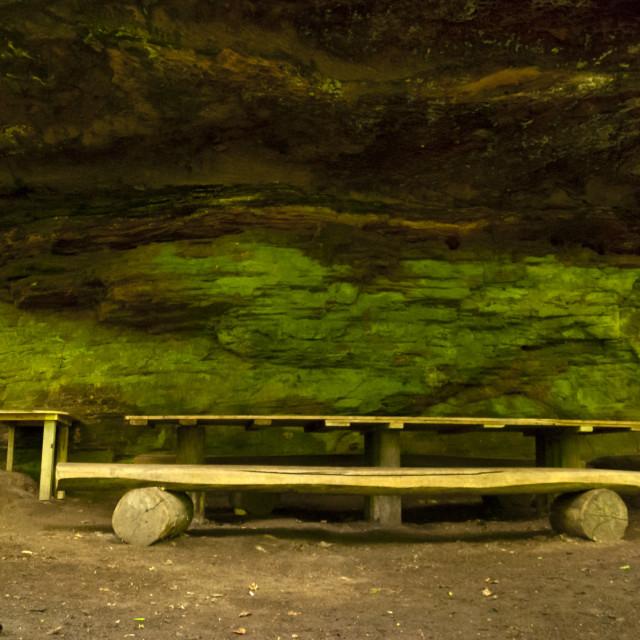 """Cave on the Hiking Trail Eifelsteig"" stock image"