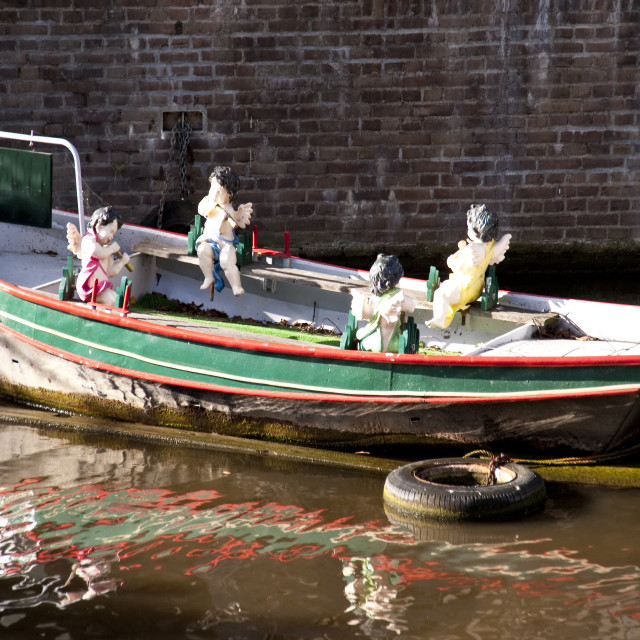 """""""boat in amsterdam"""" stock image"""