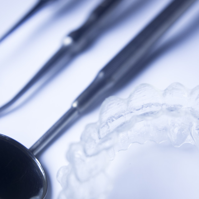 """""""Invisible teeth aligners"""" stock image"""