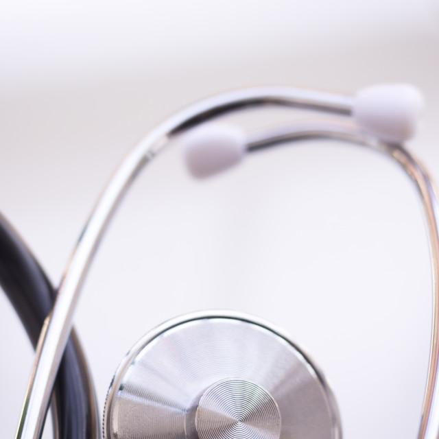 """Medical doctors stethoscope"" stock image"