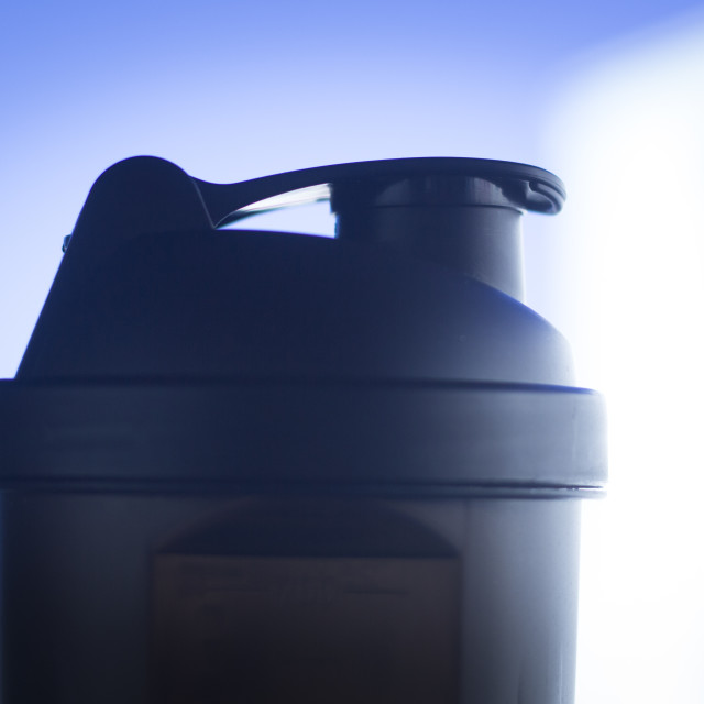 """""""Protein shake shaker"""" stock image"""