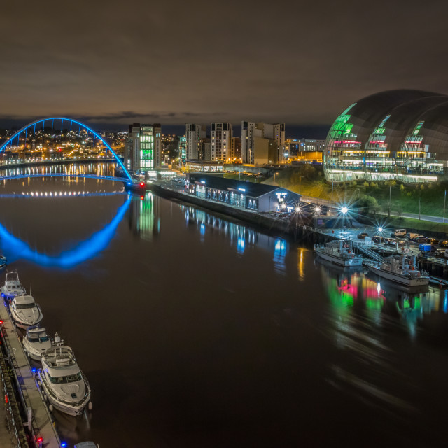 """River Tyne City Marina"" stock image"