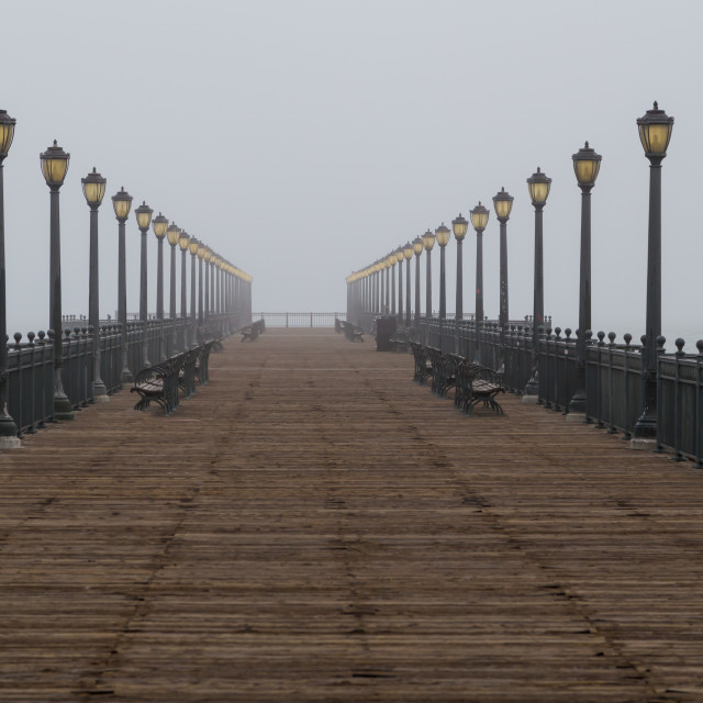 """Morning Fog in San Francisco"" stock image"