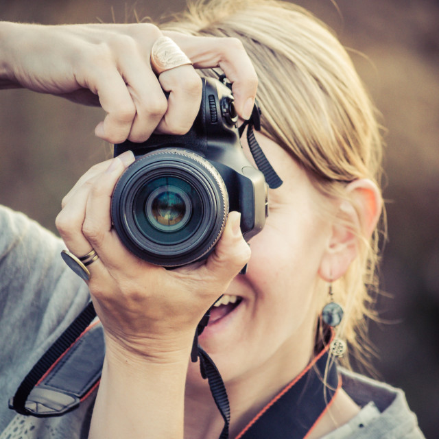 """Female photographer"" stock image"