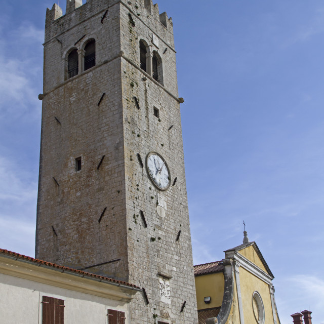 """Church in Motovun"" stock image"