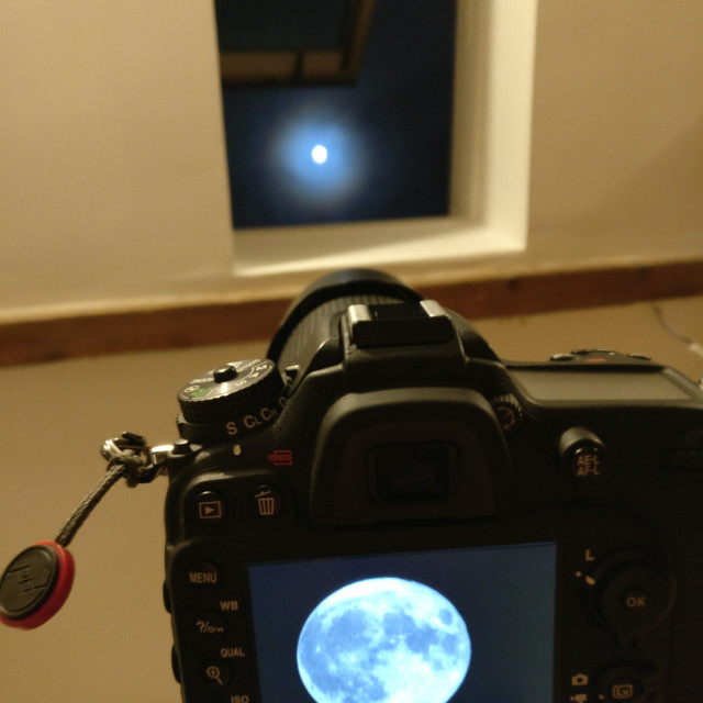 """Capturing a Supermoon"" stock image"