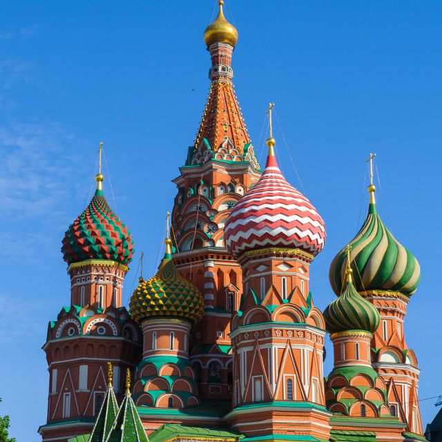 """Saint Basil's Cathedral, Cathedral of St. Vasily the Blessed"" stock image"