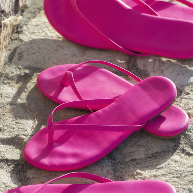 """""""Matching pairs of hot pink sandals"""" stock image"""
