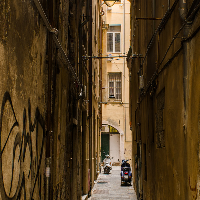 """""""Grungy Side Of Genoa"""" stock image"""