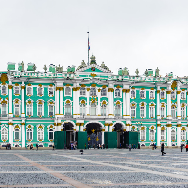 """Winter Palace, Hermitage museum in Saint Petersburg, Russia"" stock image"