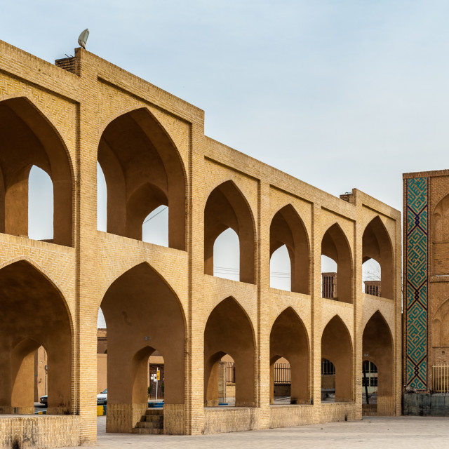 """Clay architecture of the center of Yazd, Iran"" stock image"