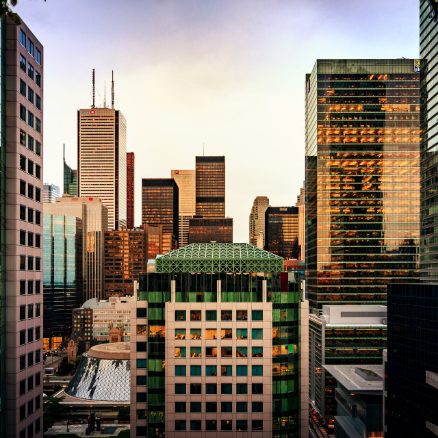 """""""Toronto, in Glass and Stone"""" stock image"""