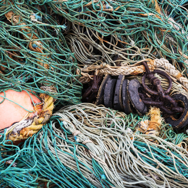 """Commercial fishing nets"" stock image"