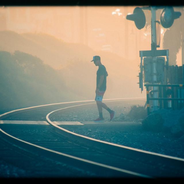"""Rail Road Crossing"" stock image"