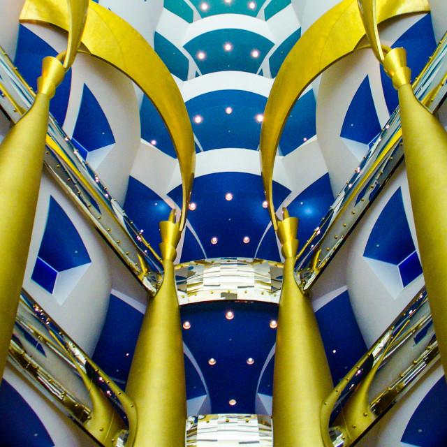"""""""Inside the Burj al Arab"""" stock image"""
