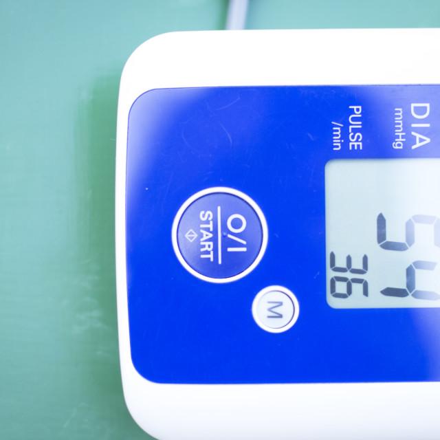 """Blood pressur pulse rate meter"" stock image"