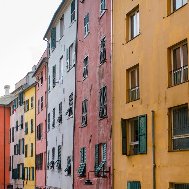 """Colors Of Genoa"" stock image"