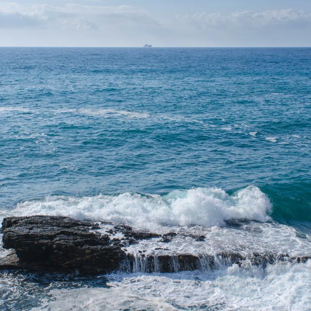 """Maritime Horizon Of Genoa Nervi"" stock image"
