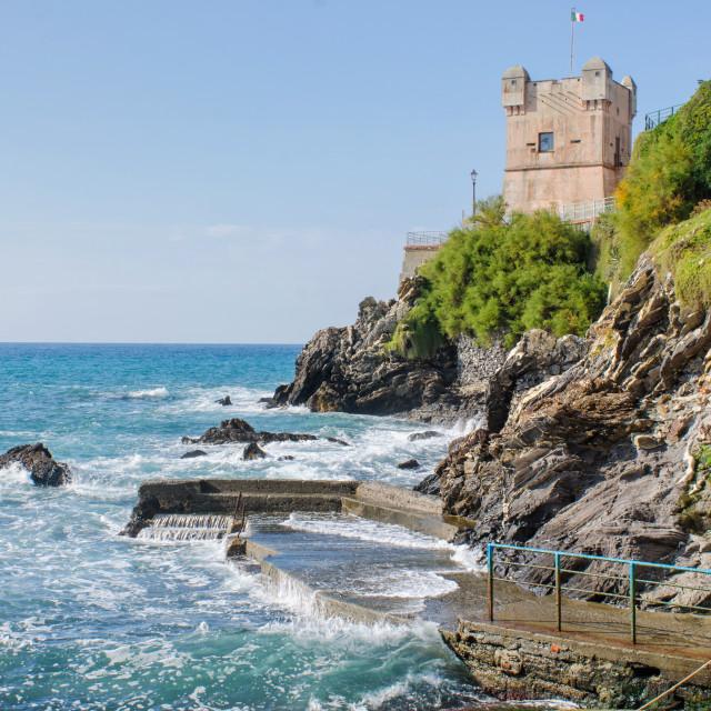 """Tower Of Gropallo In Genoa Nervi"" stock image"
