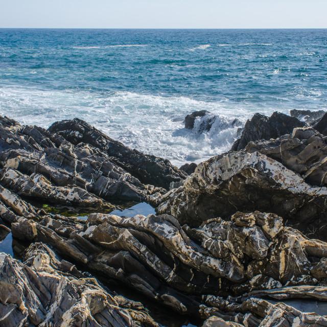 """Coast Of Genoa Nervi"" stock image"