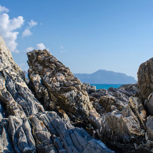 """""""Wonders At The Coastline Of Liguria"""" stock image"""