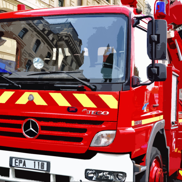 """""""Mercedes Atego fire truck"""" stock image"""