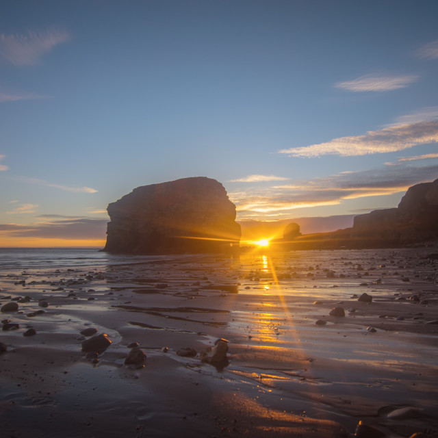 """""""The Sun Emerges at Marsden"""" stock image"""