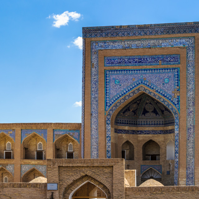 """Itchan Kala, the walled inner town of the city of Khiva, Uzbekistan. UNESCO..."" stock image"