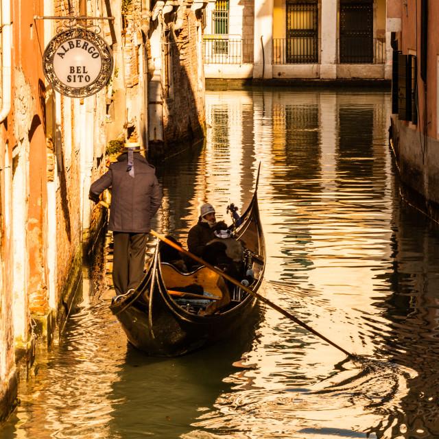"""""""Early Morning Gondola"""" stock image"""
