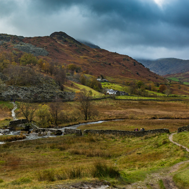 """""""Early Autumn River Brathay"""" stock image"""