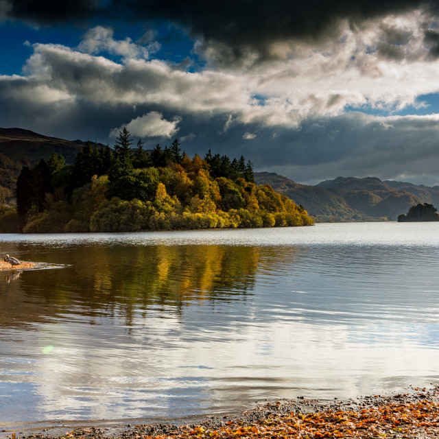 """Derwent Water in early Autumn"" stock image"