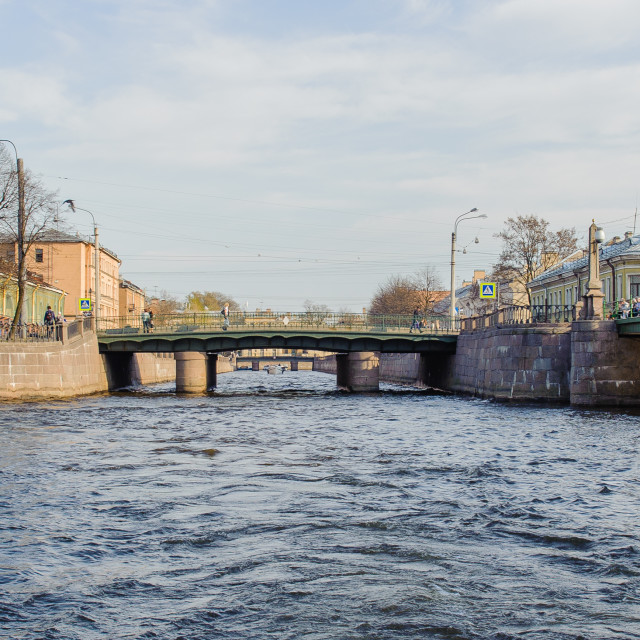 """""""One of the chanels of Neva river in St. Petersburg, Russia"""" stock image"""