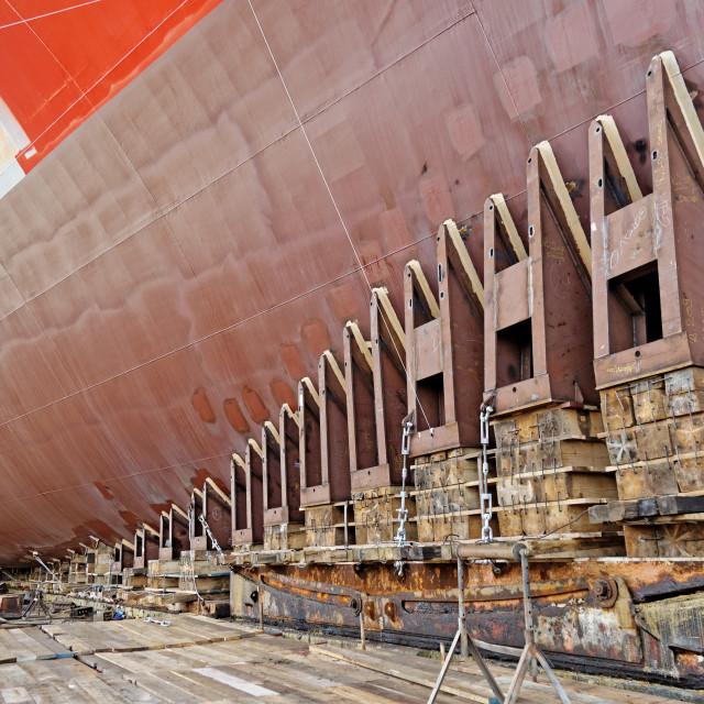 """""""Ship launching"""" stock image"""