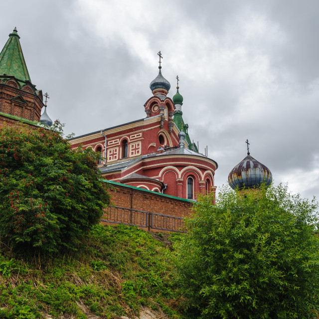 """""""Image of the monastery in Old Ladoga town in Russia"""" stock image"""