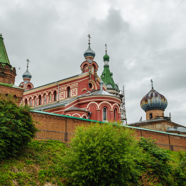 """Image of the monastery in Old Ladoga town in Russia"" stock image"