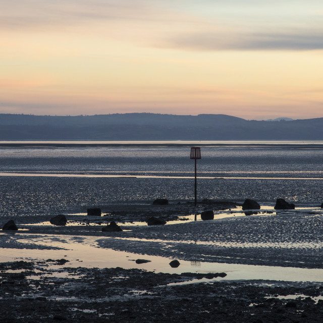 """River Dee Estuary Dusk"" stock image"