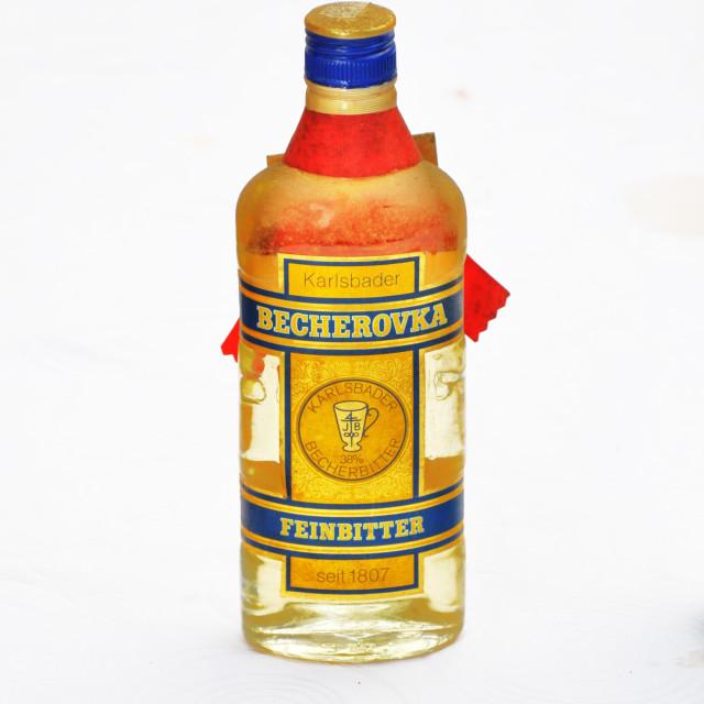 """Karlovaska Becherovka"" stock image"