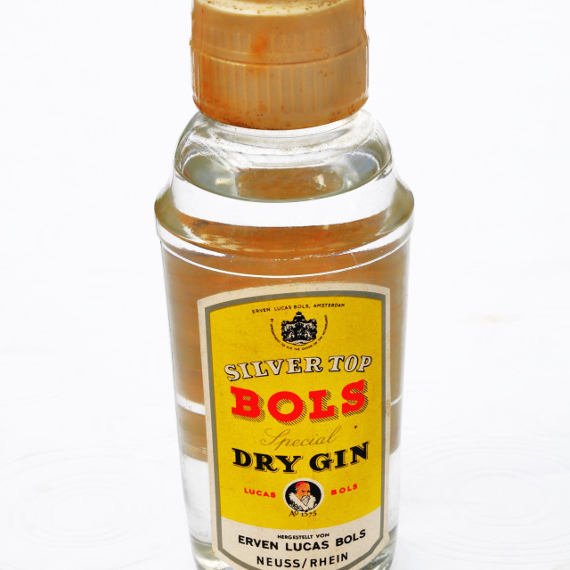 """""""Bols Silver Top Dry Gin"""" stock image"""