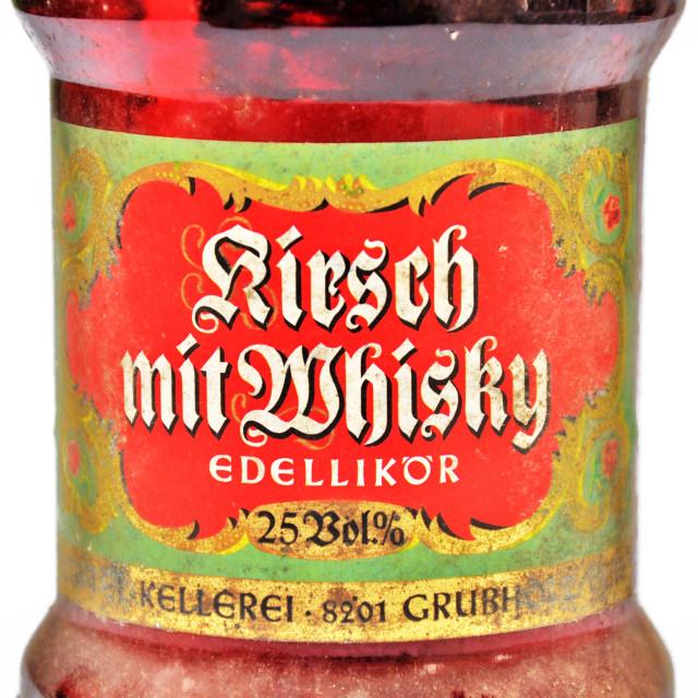 """Kirsch mit Whisky"" stock image"
