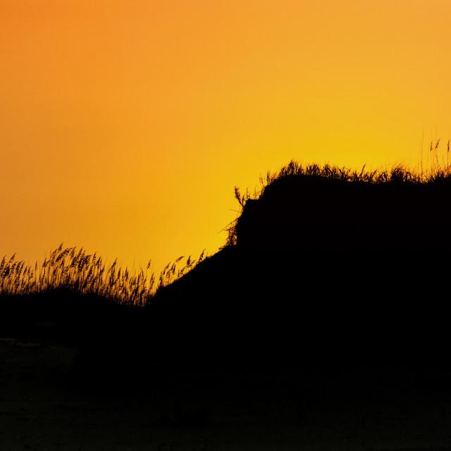 """""""Dune sunrise Outer Banks North Carolina"""" stock image"""
