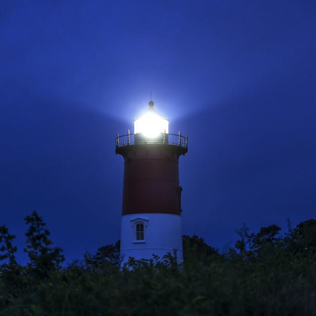 """""""Nauset Lighthouse night Eastham Cape Cod"""" stock image"""