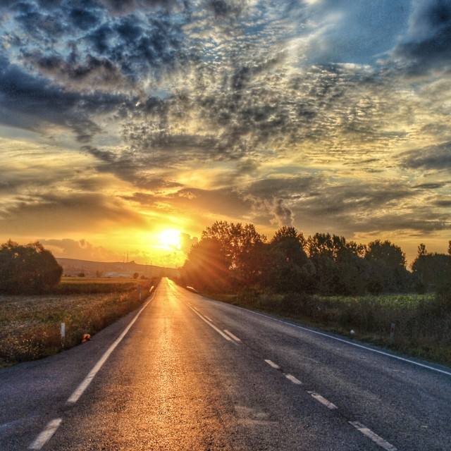 """road to sun"" stock image"
