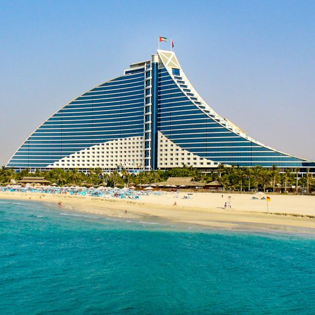 """Jumeriah Beach Hotel, Dubai"" stock image"