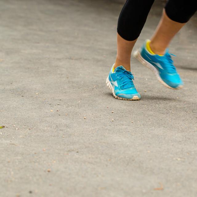 """Girl running"" stock image"