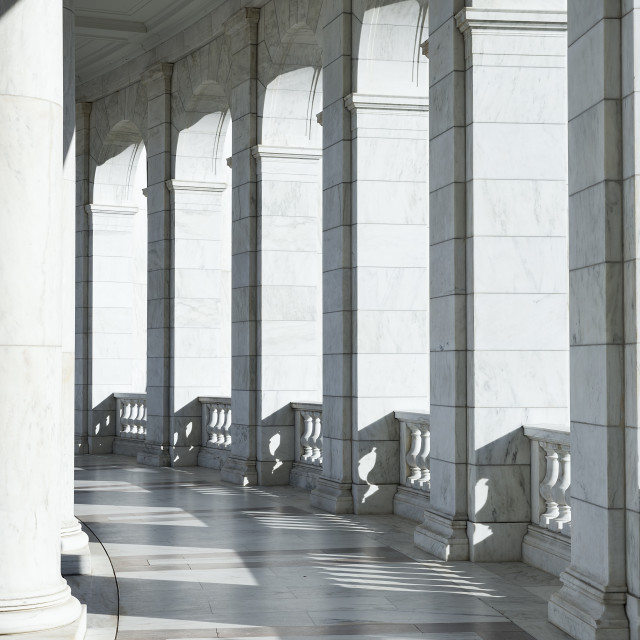 """Elegant granite portico"" stock image"