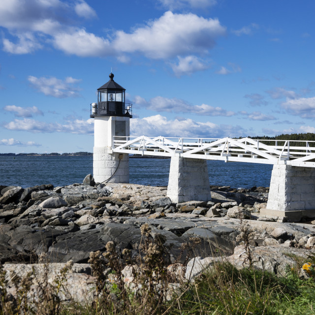 """""""Marshall Point Lighthouse Port Clyde Maine"""" stock image"""