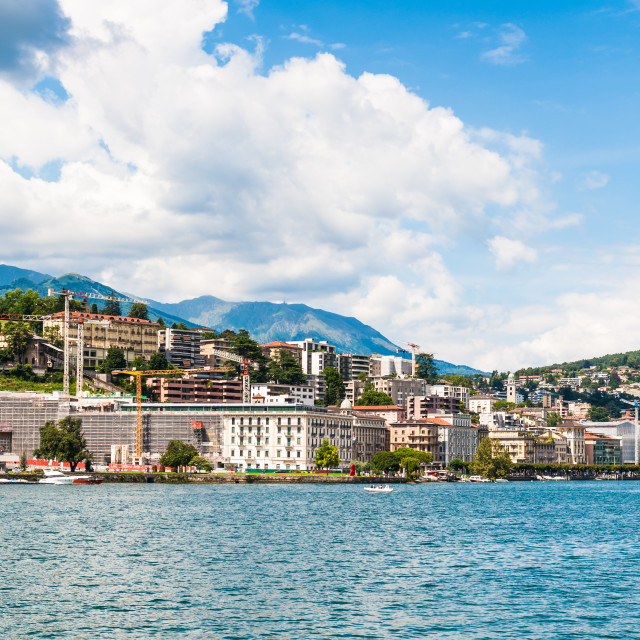 """Lugano, a city in the south of Switzerland, in the Italian-speaking canton of..."" stock image"