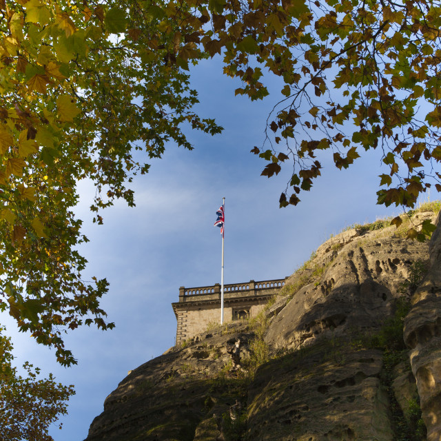 """Nottingham Castle"" stock image"