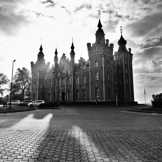 """""""Gemeentehuis - Kasteel de Viron"""" stock image"""