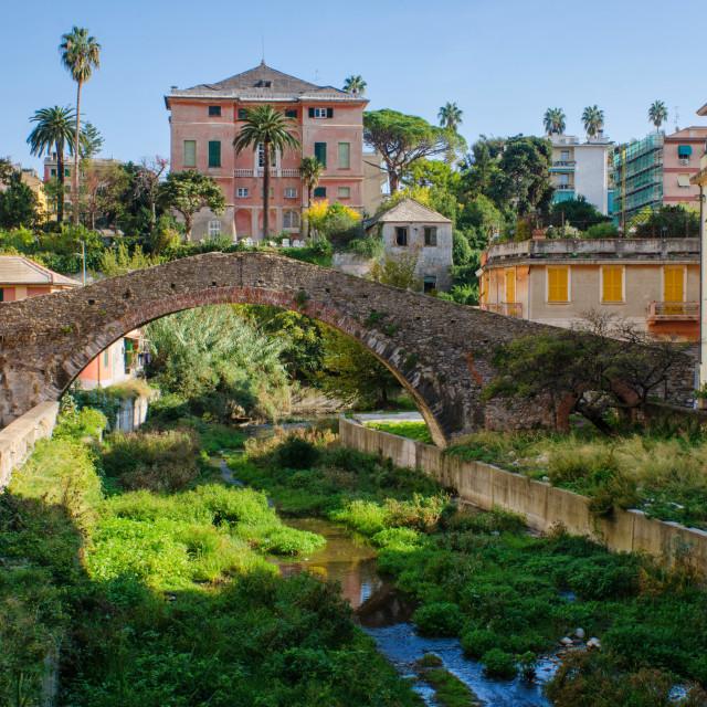 """""""Ancient Remnants Inside Modern Genoa Nervi"""" stock image"""